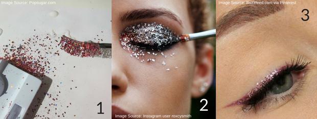 DIY Glitter Makeup