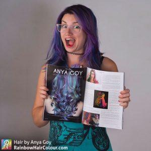 rainbow hair anya goy