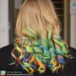 rainbow hair blonde