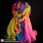 rainbow hair dark