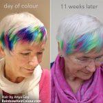 rainbow hair fade