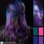 rainbow hair galaxy