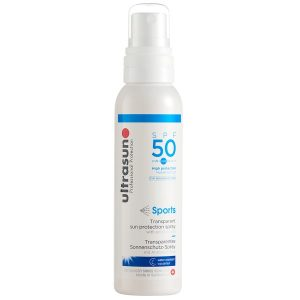 Ultrasun Transparent Sun Protection Spray SPF50 Fitness Routine