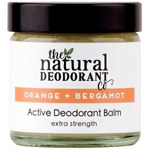The Natural Deodorant Co. Active Deodorant Balm Orange + Bergamot Fitness Routine