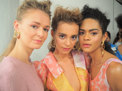 Behind the scenes at London Fashion week paul costelloe x benefit allbeauty blog