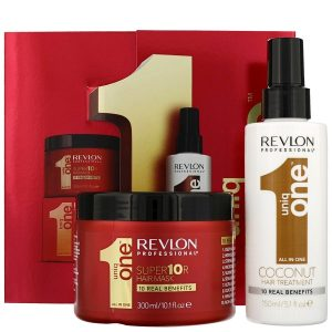 Revlon Professional Uniq One Coconut Hair Treatment 150ml & Conditioning Hair & Super 10R Hair Mask 300ml