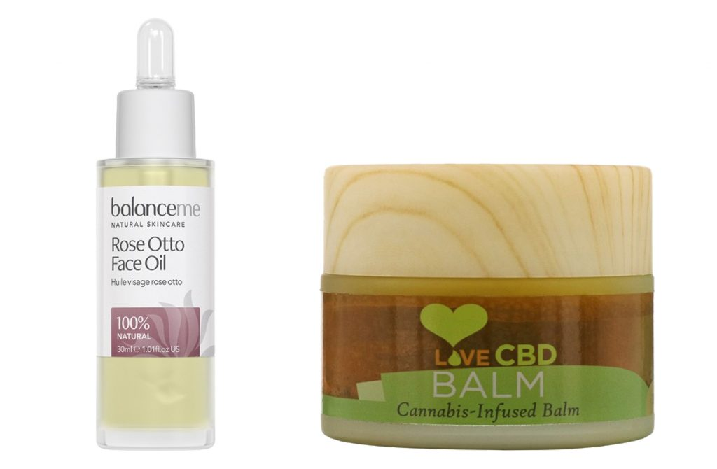 Balance Me Rose Otto Face Oil and Love CBD balm - Rosacea