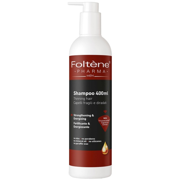 Foltène Anti-Hair Loss Solutions for Men Thinning Hair Shampoo 400ml - thinning